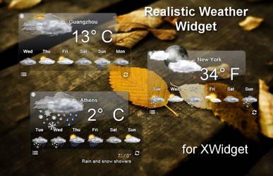 Realistic Weather Widget for xwidget by Jimking