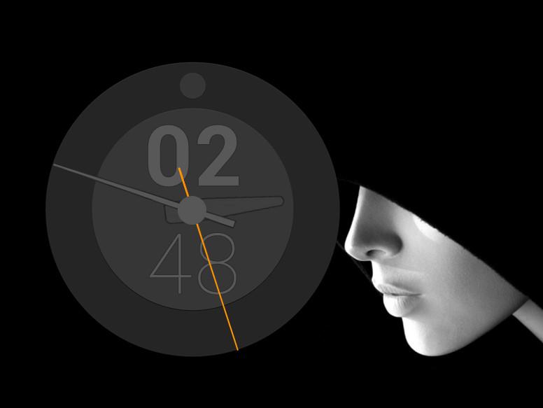Circle Black Clock for xwidget by jimking