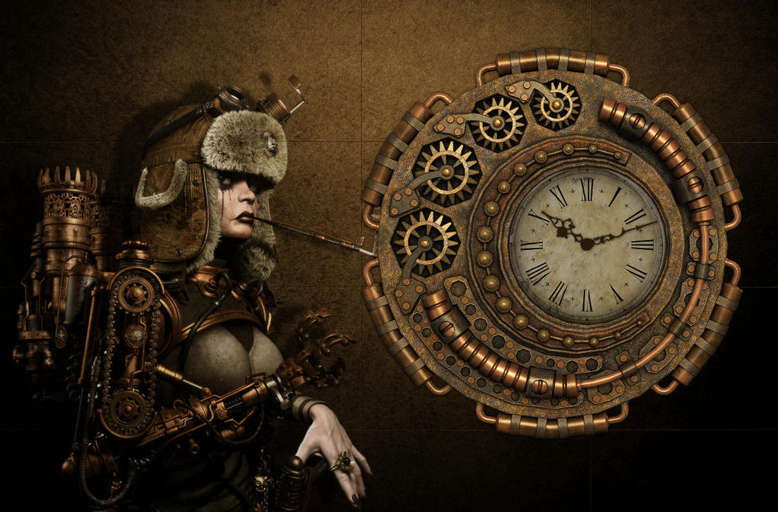 steampunk mechanical clock 2 for xwidgetanimated by