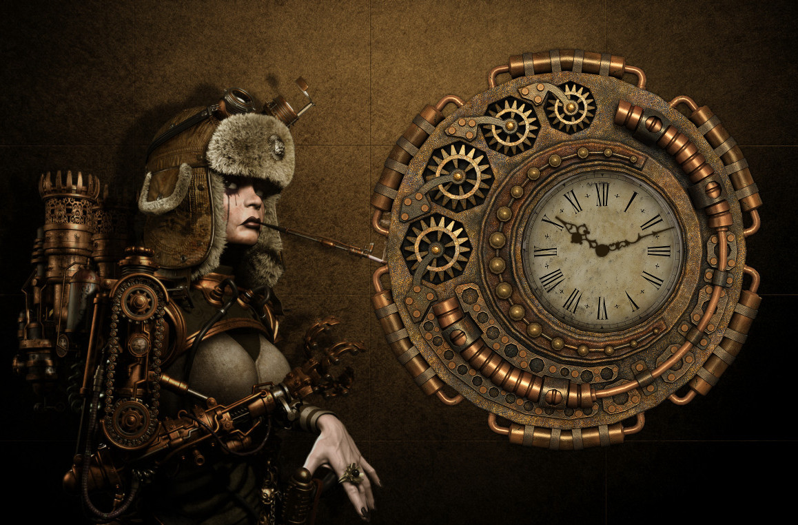 Steampunk Mechanical Clock 2 For Xwidget Animated By