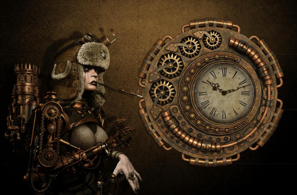 steampunk wallpaper clock - photo #18