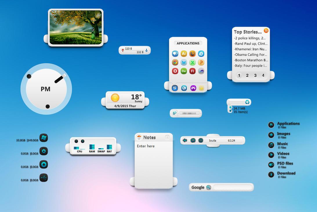 XWidget Built-In Widgets Light Version by jimking