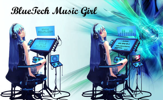 BlueTech Music Girl for xwidget (animated)