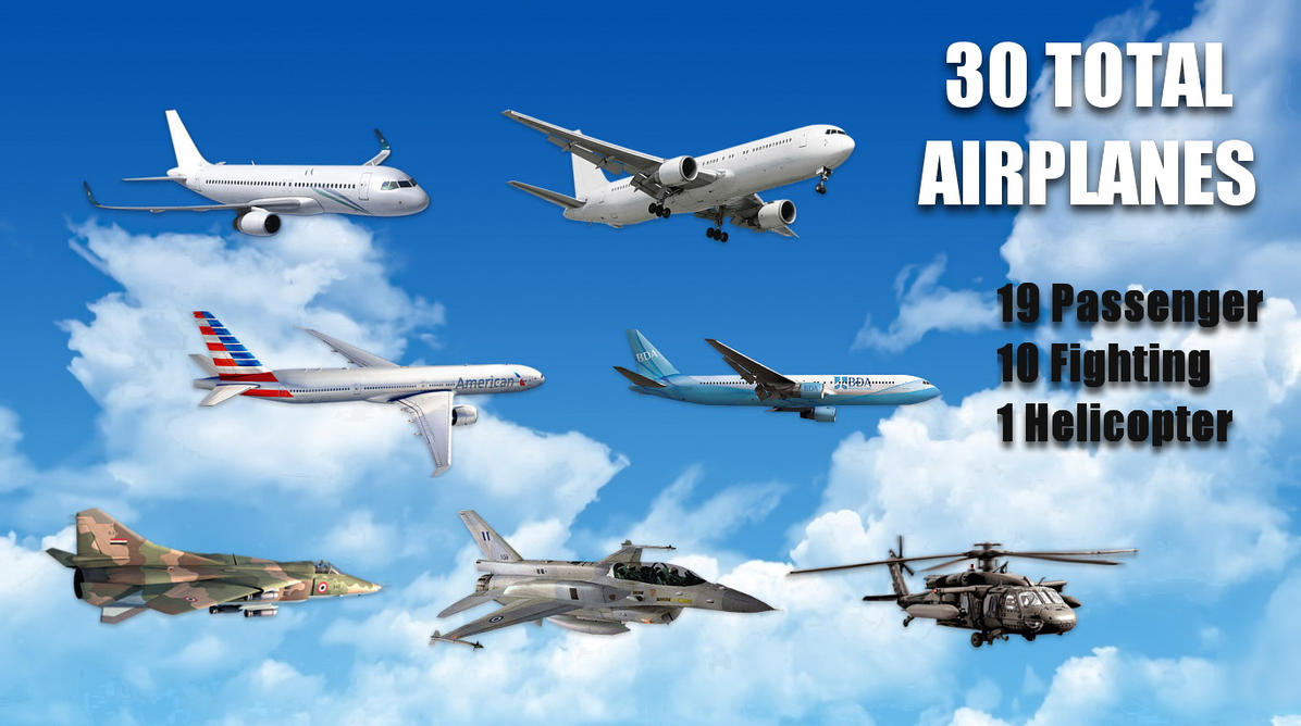 Flying Airplanes 3D for xwidget by jimking