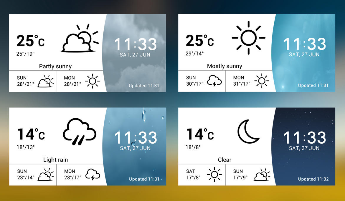 LG G4 Weather 3 v2 for xwidget by jimking