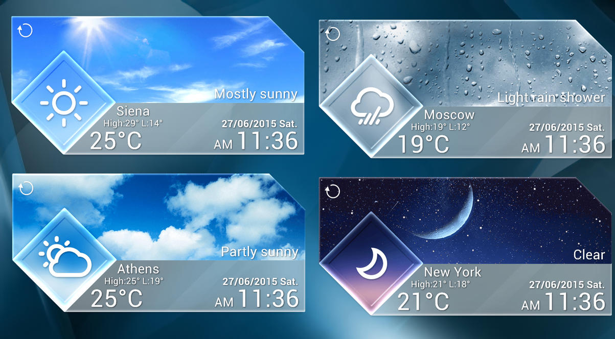 Glass Style Weather 2 for xwidget by jimking