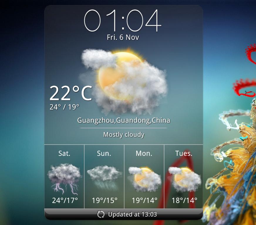 HTC Rosie Weather Widget MOD 2 for xwidget (FIXED) by