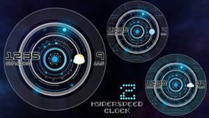 Hyperspeed Clock 2 for xwidget