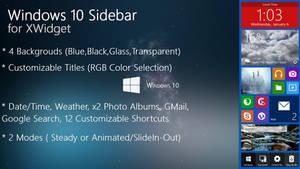 Windows 10 Sidebar for xwidget