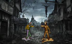 Walking Zombie for xwidget (full animated)