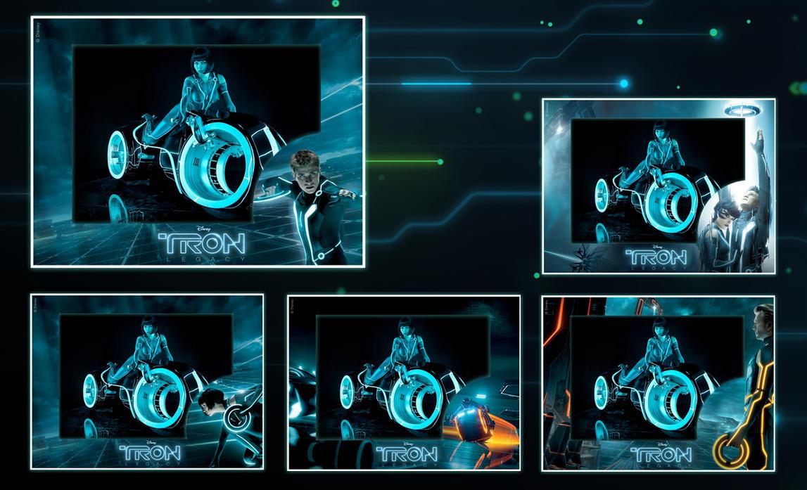 Tron Photo Frame for xwidget by jimking