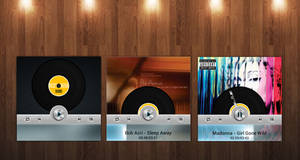 Modern Vinyl Player (with animation) for xwidget