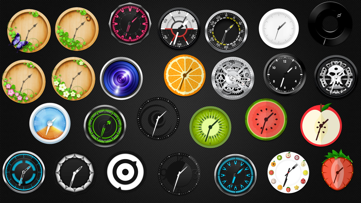 Cool Analog Clocks Collection for xwidget