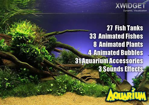 XWidget Aquarium FULL SCREEN