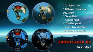 EARTH CLOCK for xwidget