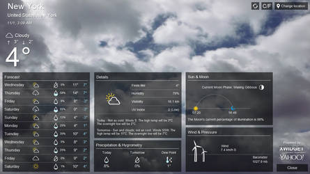 Yahoo! Style Weather FULL SCREEN for xwidget by Jimking