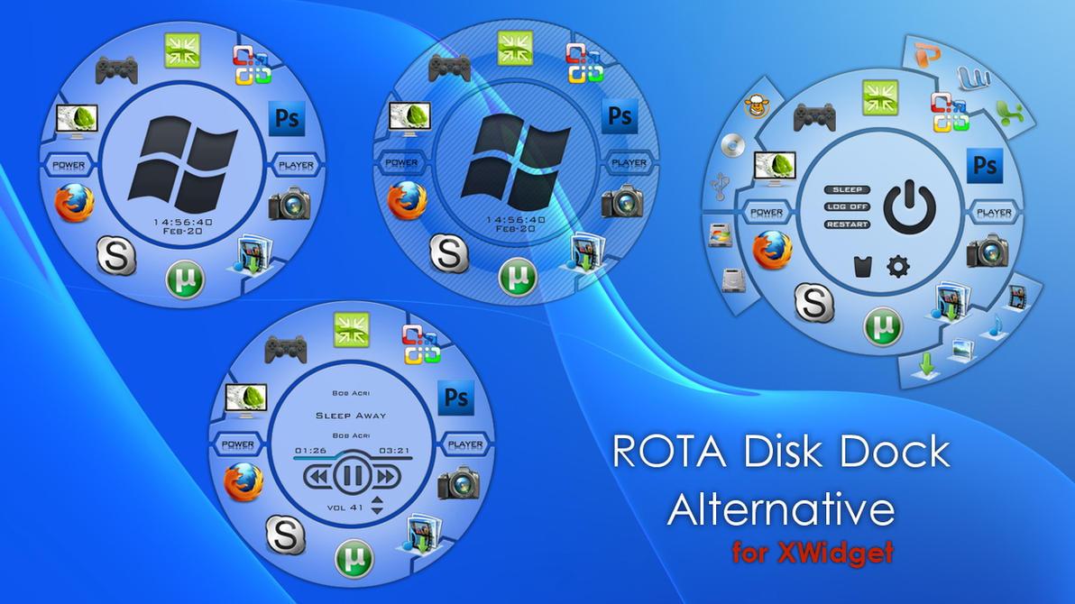 ROTA Disk Dock Alternative for xwidget by Jimking