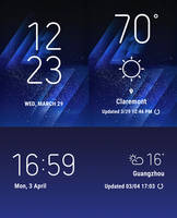 Galaxy S8 Original Widgets for XWidget (EDITED)