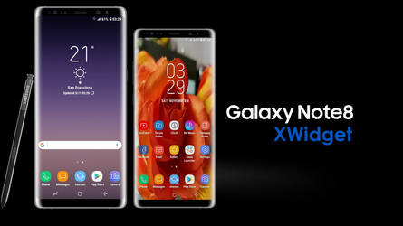 Samsung Galaxy Note 8 for xwidget by Jimking