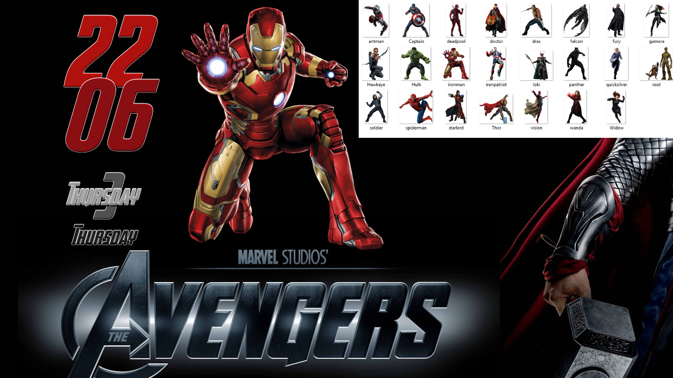 Avengers Widget for xwidget by Jimking