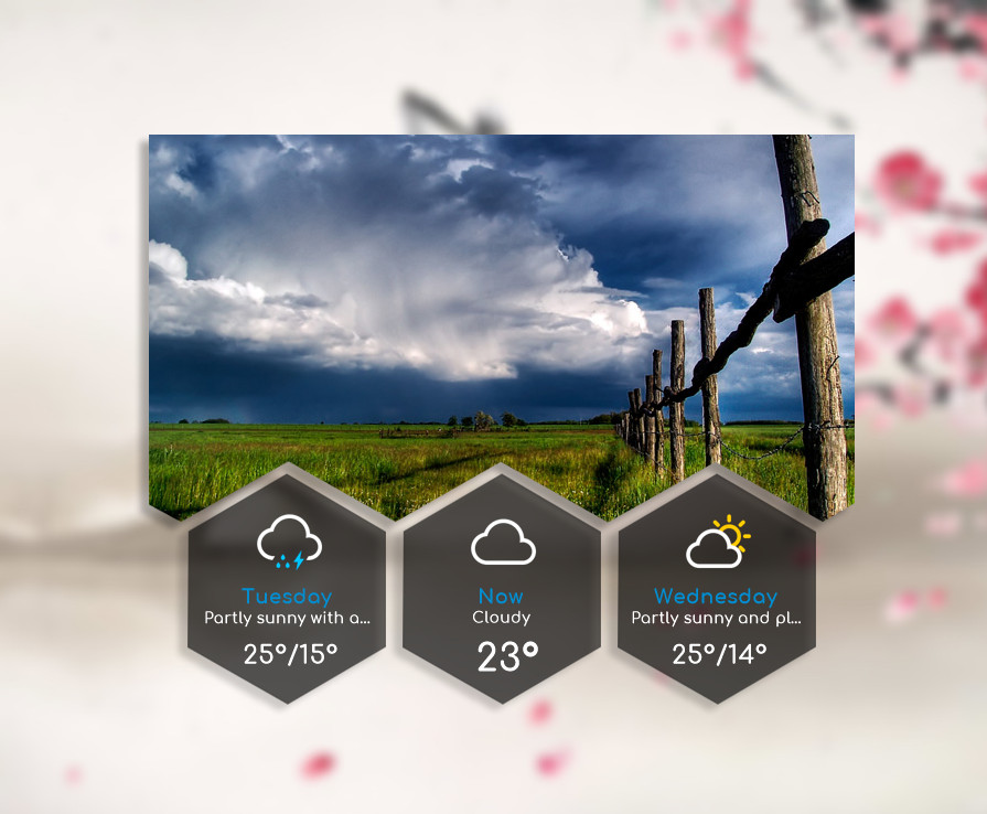 Hexagon Style Weather for xwidget by Jimking