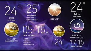 Galaxy S10 Concept Widgets for xwidget