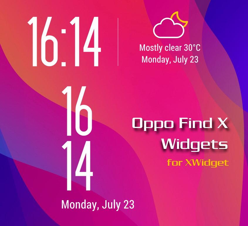 Oppo Find X Widgets for xwidget by Jimking on DeviantArt