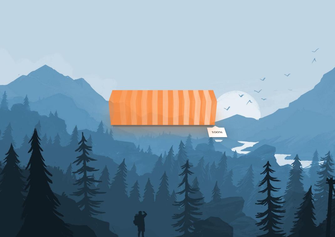 3D Battery Orange for Rainwidget