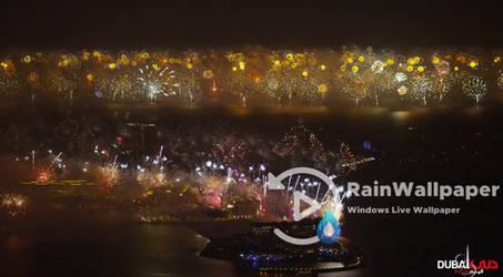 Dubai New Year Fireworks by Jimking