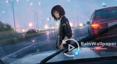 Rainfall Anime Girl