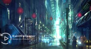 Rainy Town Road