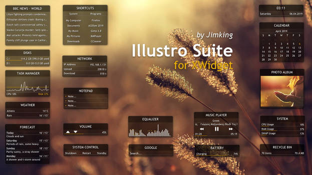 Illustro Suite for xwidget by Jimking