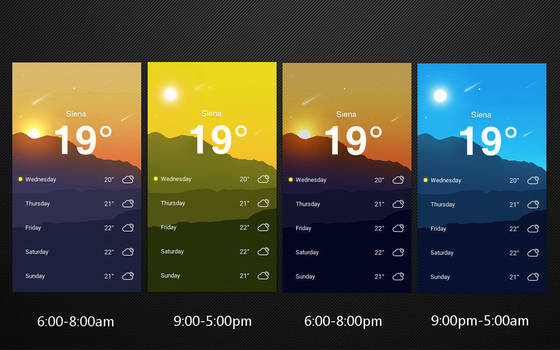 Material Tab Weather 2 for xwidget by Jimking