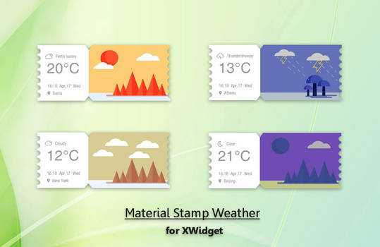 Material Stamp Weather for xwidget by Jimking