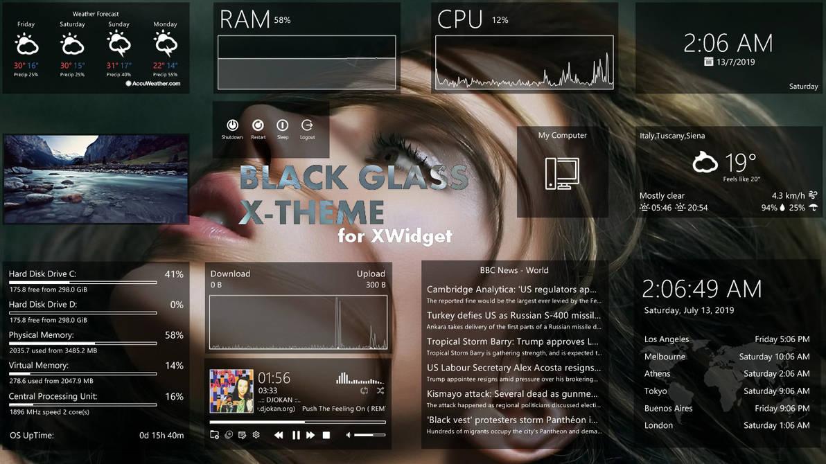 Black Glass X-Theme for xwidget