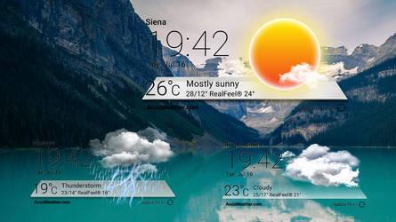Ondock Weather Widget for xwidget by Jimking