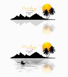 Silhouette Island Weather Widget for xwidget by Jimking