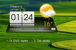 3D Sense Clock Weather for xwidget by Jimking