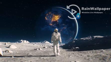 Spaceman Walking by Jimking