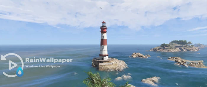 GTA V Lighthouse LWP (wide) by Jimking
