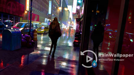 Night Walk City Rain by Jimking