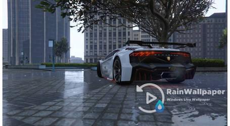 White Lamborghini in the Rain by Jimking