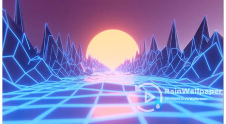 Synthwave-Sunset Grid by Jimking