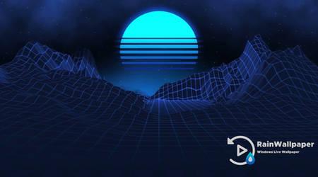 Blue Retro Moon by Jimking