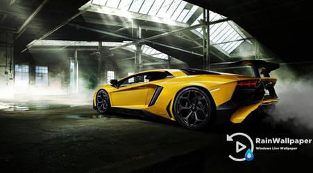 Yellow Lamborghini Aventador by Jimking