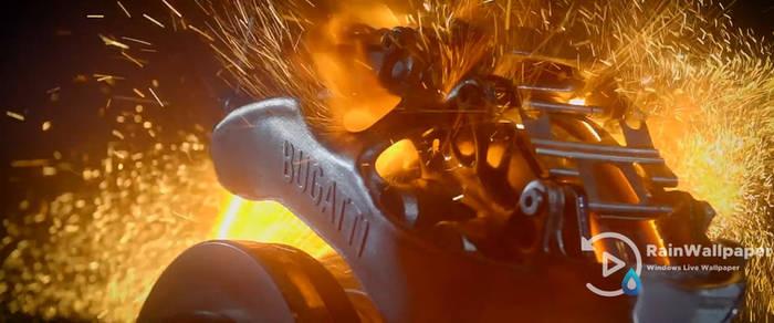 Bugatti Brake Fire (wide) by Jimking