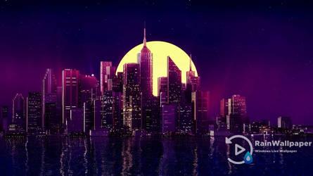 Reflection-Night City by Jimking