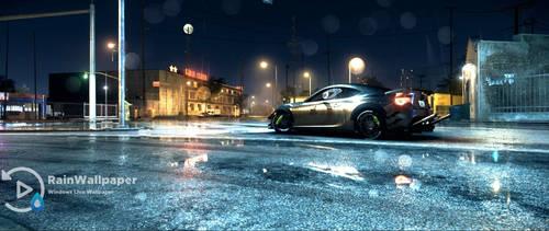 Raining Night City-NFS (wide) by Jimking