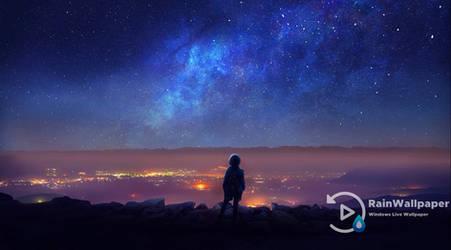Shooting Stars Night City by Jimking