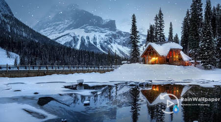 Winter Cabin Snow lwp by Jimking